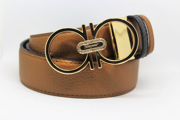 Reversible belt double color, excellent colors Gold Buckle