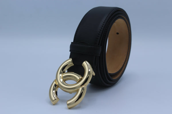 C Belt Gold and Silver Buckle