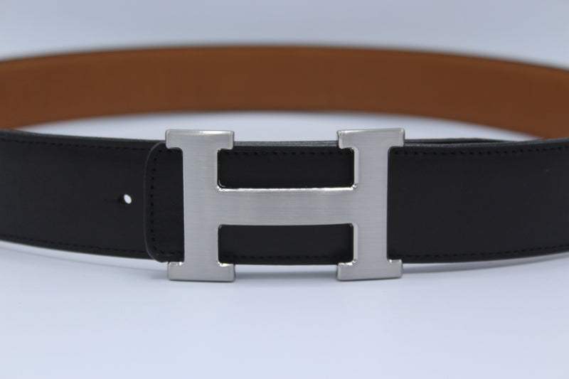 Reversible Buckle Belt Brown&Black 40 mm