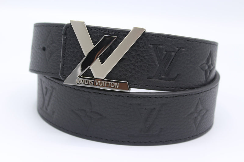 New Buckle Black Leather Belt