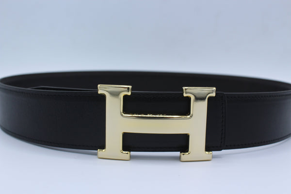 H Buckle Belt Reversible Dark Brown&Black