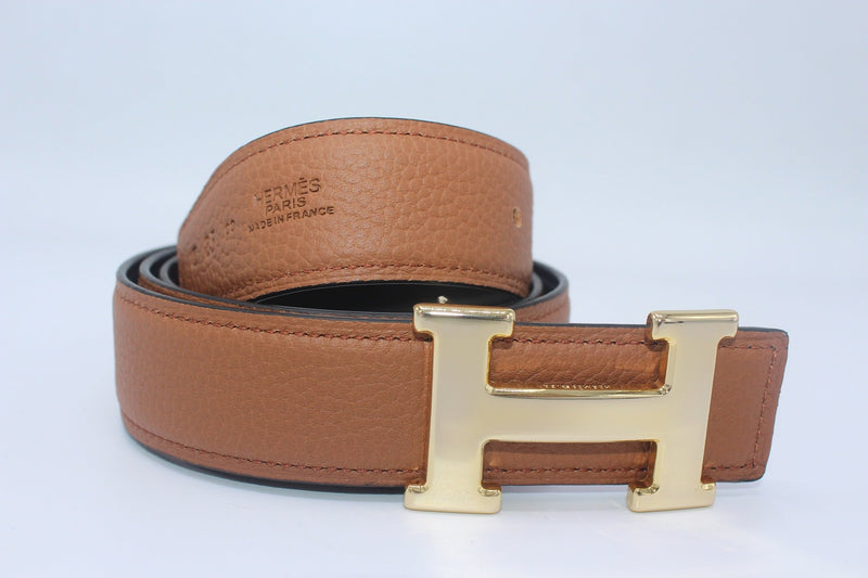 Reversible Buckle Belt Brown&Black 35mm