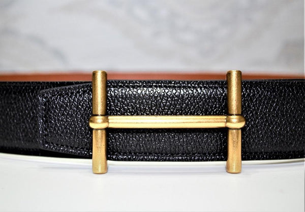 New Reversible Buckle Belt Brown&Black 40 mm