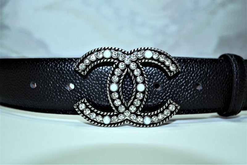 CC Amazing Colors Leather Belts Silver