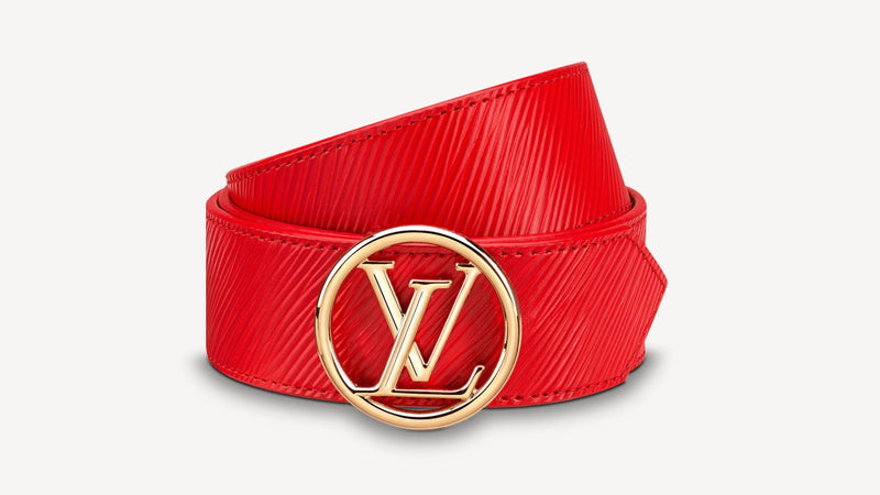 Red Reversible Leather Belt