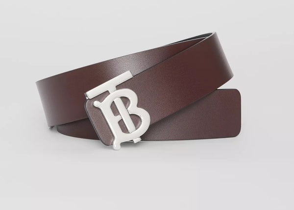 Reversible Motif Leather Belt