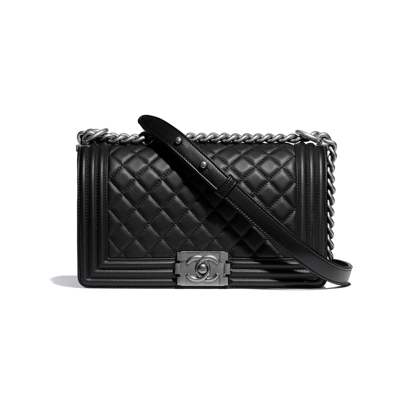 Black Boy Handbag Calfskin