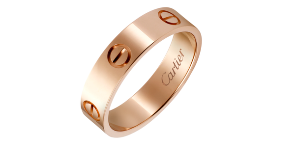 Stainless Steel Love Wedding Band Rose Gold Color