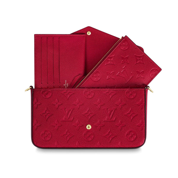 FÉLICIE POCHETTE RED MONOGRAM