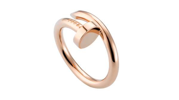 Stainless Steel Just Un Clou Ring Pink Gold Color