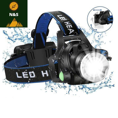 Lampe frontale rechargeable a LED 8000 lumens - nature&survival