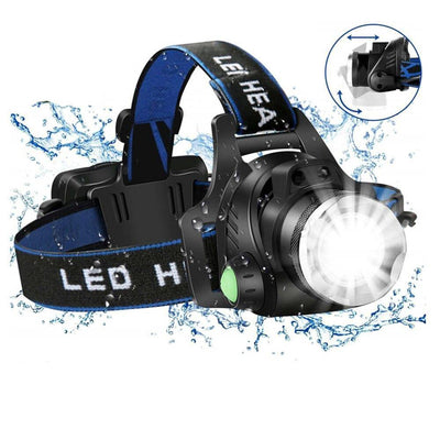 Lampe frontale rechargeable a LED 8000 lumens - nature&survival ,  , ,