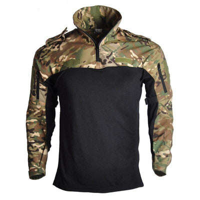 Pull Tactique Militaire Camouflage a Zip - nature&survival