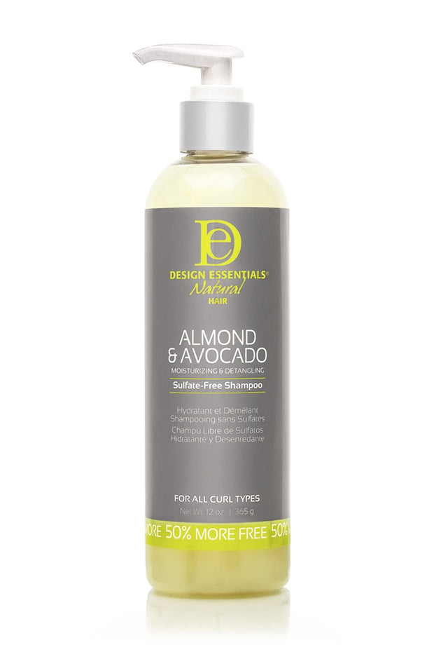 Design Essentials Natural Hair ALMOND & AVOCADO SULFATE-FREE SHAMPOO