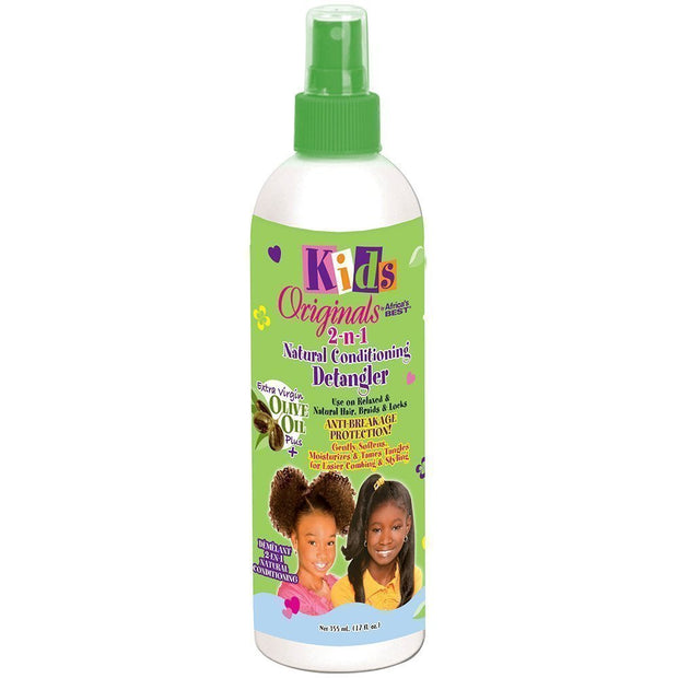Africa's Best Kids Originals 2-N-1 NATURAL CONDITIONING DETANGLER