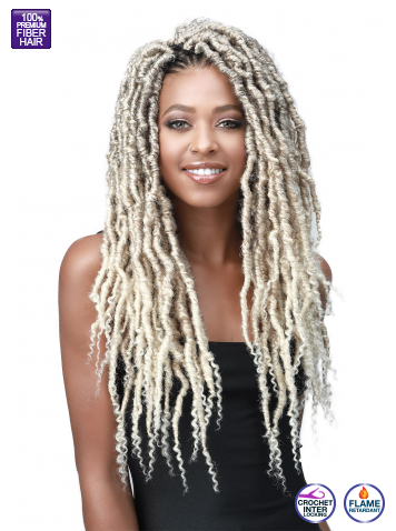 Bobbi Boss Crochet Braids Messy Faux Locs Curly Tips 18""