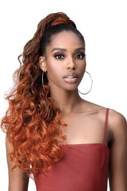 Bobbi Boss Human Hair Blend Tress Up Ponytail - MOD021 OCEAN WAVE 28