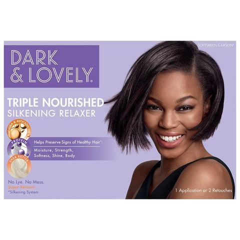 DARK & LOVELY  Moisturizing Relaxer With Shea Butter - Super