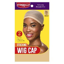 Red by Kiss Stocking Wig Cap, Beige, 2pcs in pack