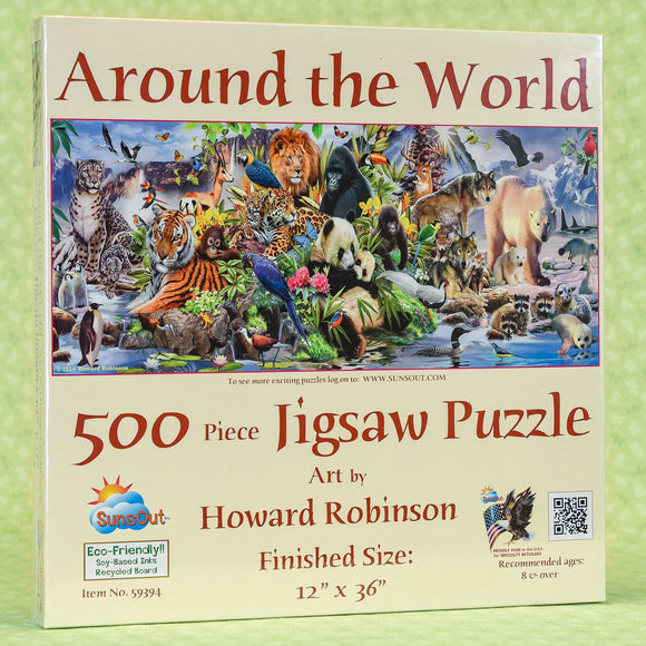Around the World (Animals) 500 Piece Puzzle