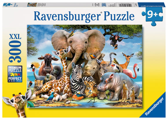 African Friends- 300 Piece Puzzle  XXL