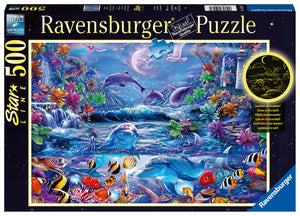 Moonlit magic - 500 Piece Puzzle - Glow In The Dark