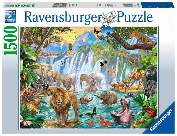 Waterfall Safari - 1500 Piece Puzzle