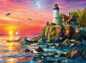 Lighthouse at Sunset - 500 Piece Puzzle