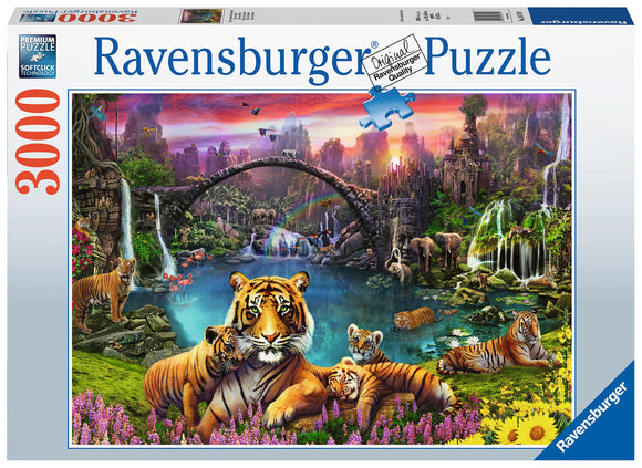 Tigers In Paradise - 3000 Piece Puzzle