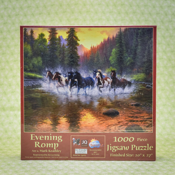 Evening Romp (Horses) 1000 Piece Puzzle