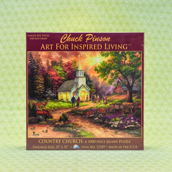 Country Church 1000+ Piece Puzzle