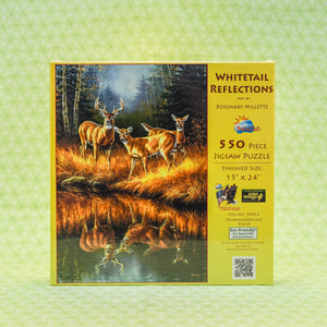 Whitetail Reflections 550 Piece Puzzle