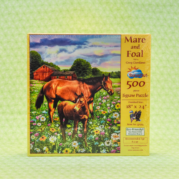Mare and Foal 500 Piece Puzzle