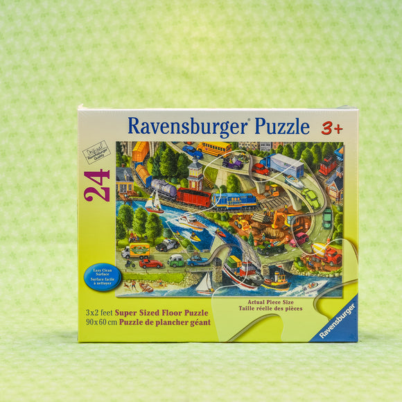 Vacation Hustle 24 Piece Floor Puzzle