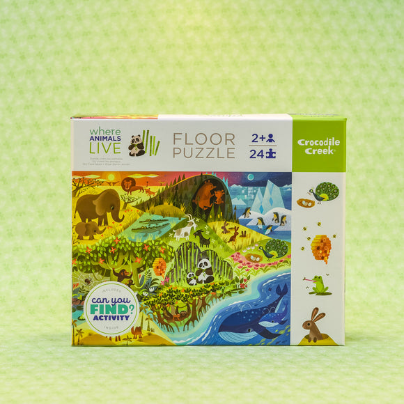 Where Animals Live 24 Piece Floor Puzzle - Early Learning