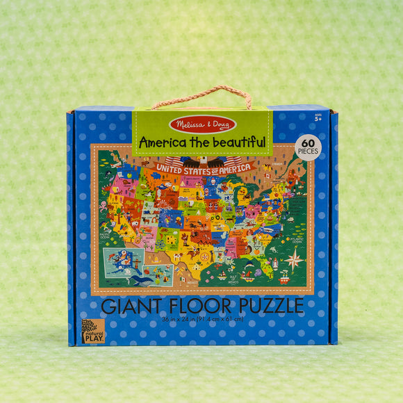 America The Beautiful 60 Piece Floor Puzzle