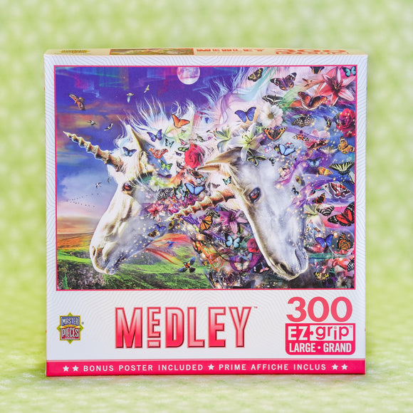 Unicorns & Butterflies 300 Piece Puzzle