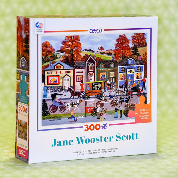 Jane Wooster Scott 300 Piece Puzzle - Hustle and Bustle
