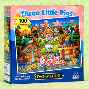 Three Little Pigs 100 Piece Puzzle