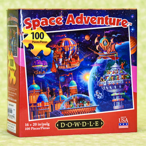 Space Adventure 100 Piece Puzzle