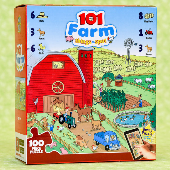 101 Things to Spot Farm 100 Piece Puzzle