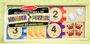 Number Puzzle Self-Correcting 1-20