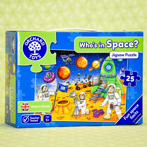 Who's in Space 25 Piece Puzzle
