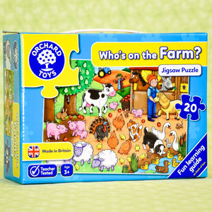 Who's on the Farm 20 Piece Puzzle