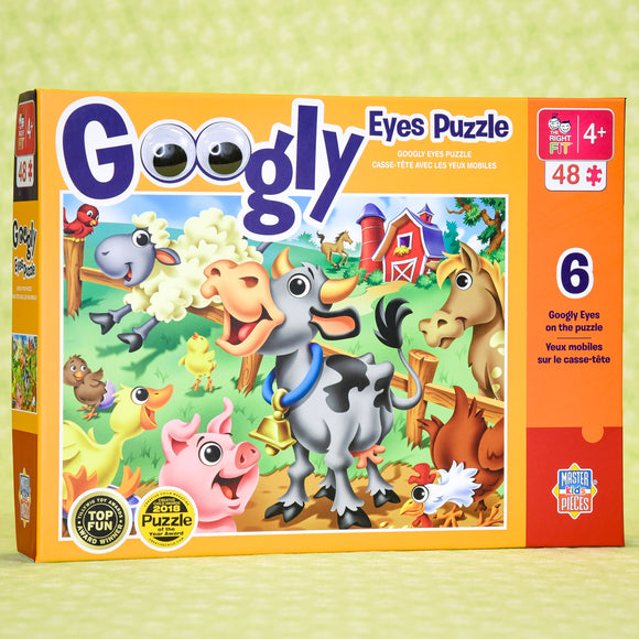 Farm Animals Googly Eyes 48 Piece Puzzle