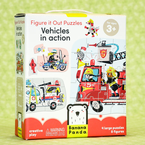 Vehicles in Action Puzzles - Figure it Out