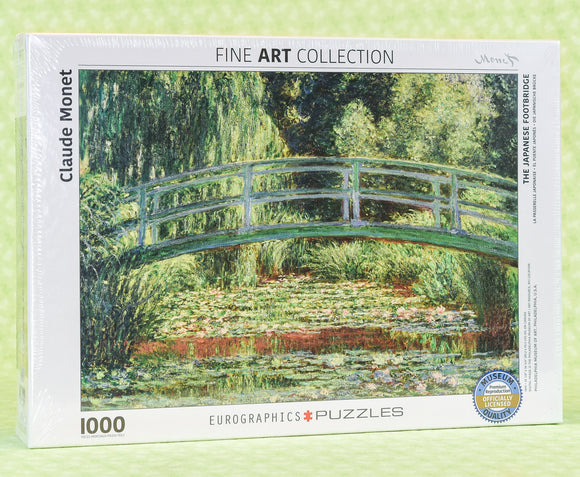 The Japanese Footbridge 1000 Piece Puzzle - Claude Monet