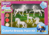 Stablemates - Paint Your Own Horse - Colorful Breeds Kit (retired)