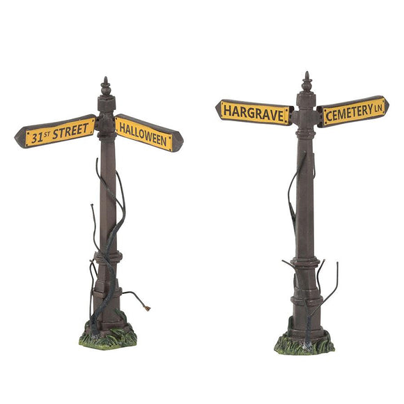 Creepy Street Signs - Set of 2 (retired)