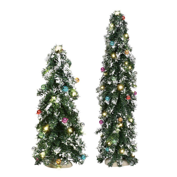 Festive Mountain Pines - Set of 2